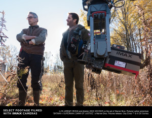Batman v Superman director Zack Snyder with IMAX Camera