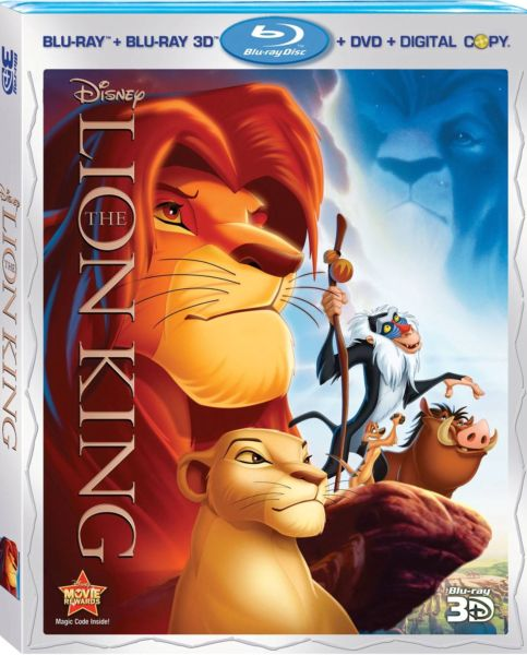 Disney 2011 Blu-ray 3Ds: Lion King, Beauty